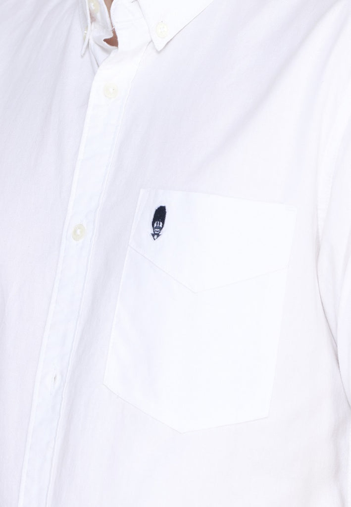 Guardian Hiro Oxford SS Shirt White
