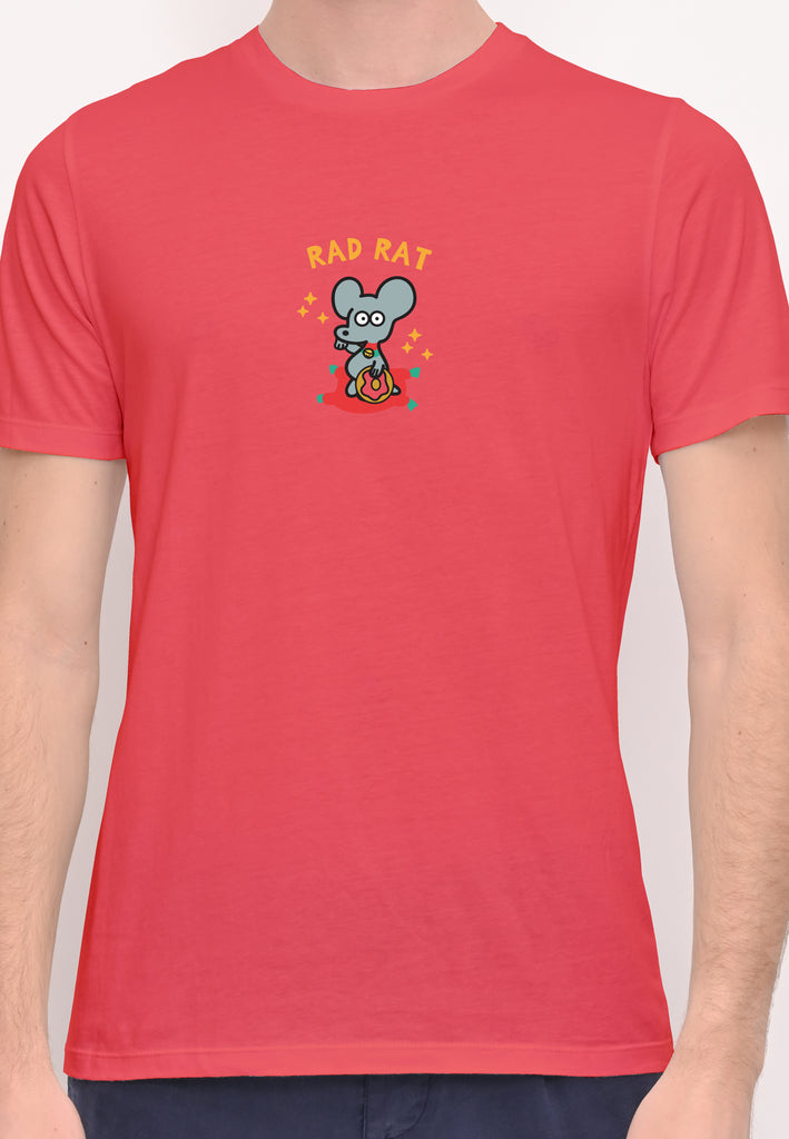 Rad Rat Donut Pink Graphic T-shirt Special