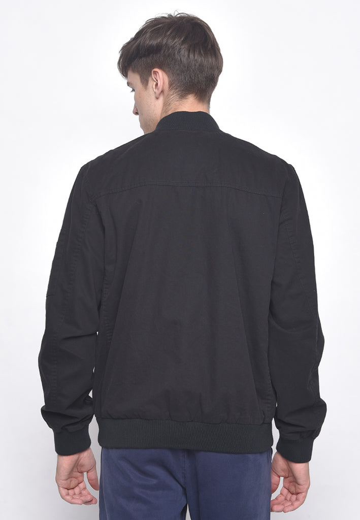 Drew Bomber Canvas Jacket Black