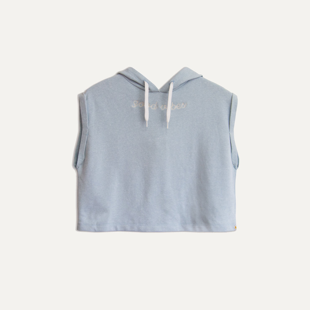 York Good Vibes SS Hood in Light Blue