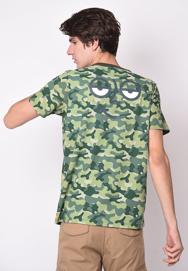 Ace Face Camo Full Printed Tees in Green