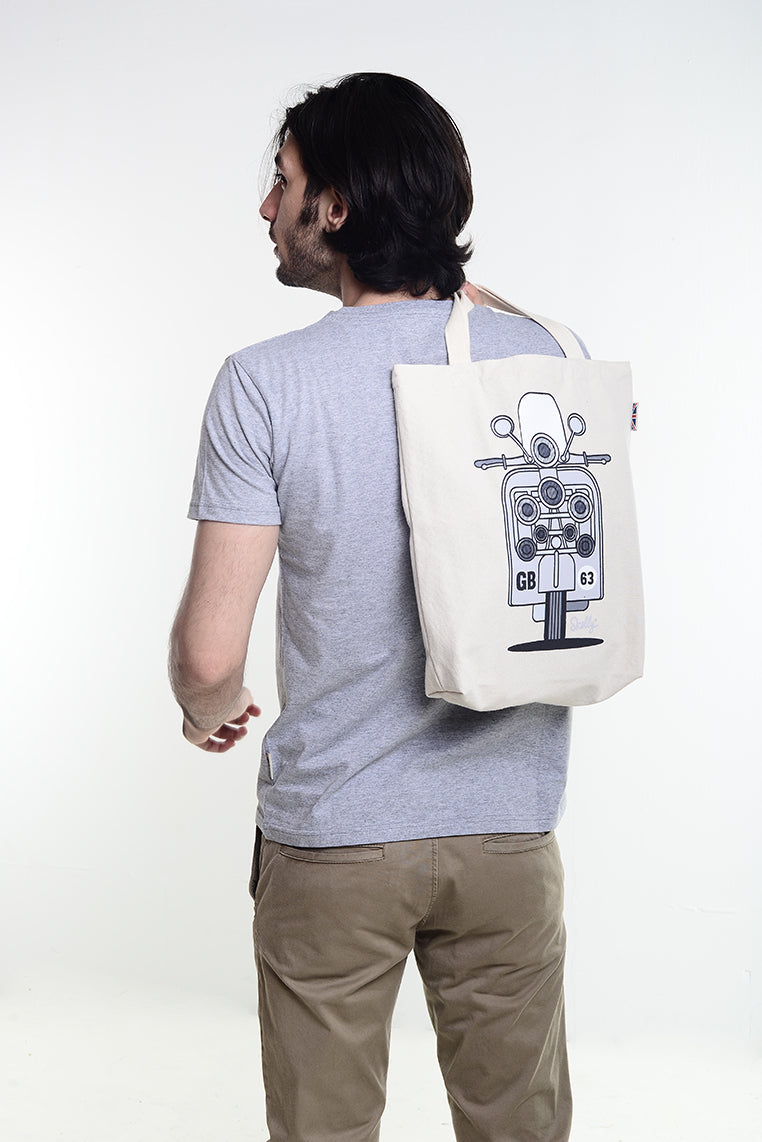 Scooter GB Tote Bag - Skelly Indonesia - The Original Graphic Tees, Comfortable Basic - www.skellyshop.co.uk