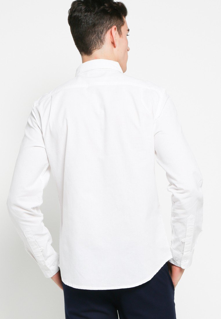 John Long Sleeve Shirts in White Oxford - Skelly Indonesia - The Original Graphic Tees, Comfortable Basic - www.skellyshop.co.uk
