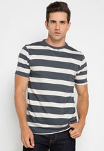 Field Stripe Henley T-shirt in Grey - Skelly Indonesia - The Original Graphic Tees, Comfortable Basic - www.skellyshop.co.uk