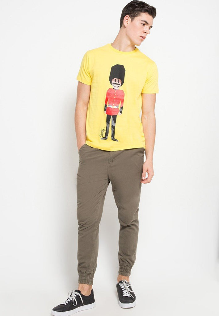 Royal Guard MMIX Graphic T-shirts in Cyber Yellow - Skelly Indonesia - The Original Graphic Tees, Comfortable Basic - www.skellyshop.co.uk