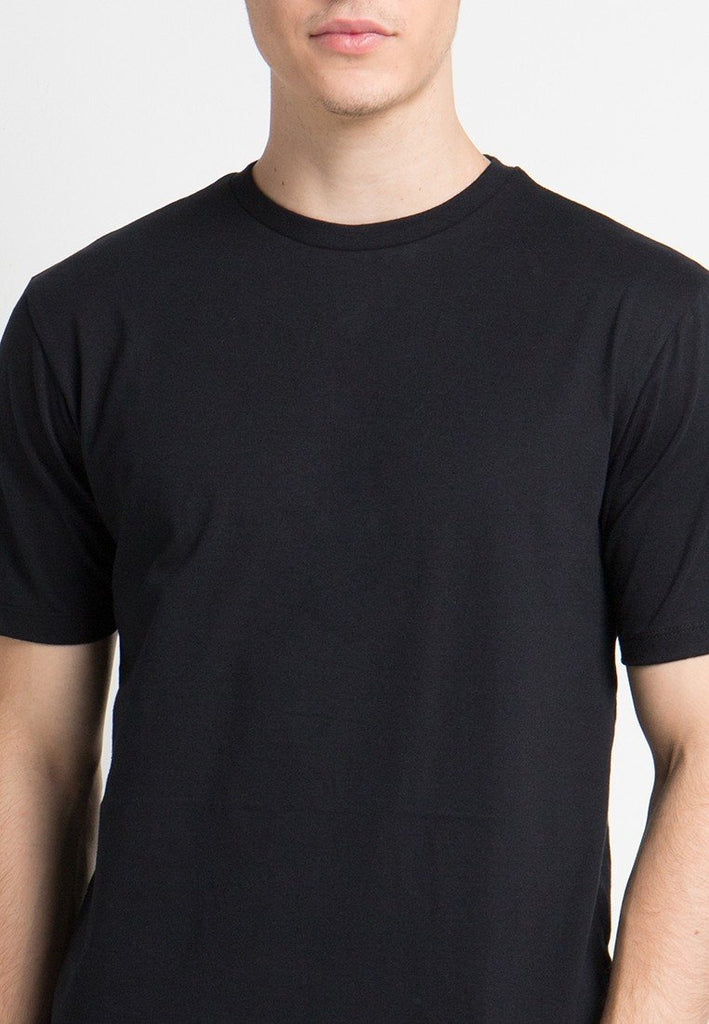 Crew Neck T-shirts in Black - Skelly Indonesia - The Original Graphic Tees, Comfortable Basic - www.skellyshop.co.uk