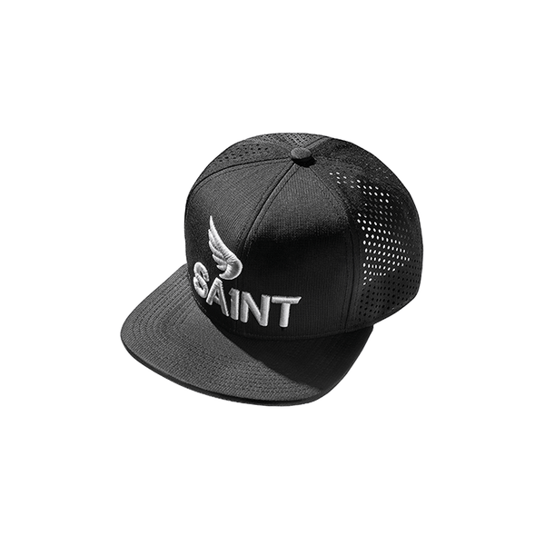 This cap... A 5 panel Trucker Cap with flat peak. It's designed in black, finished with an Unbreakable front and centre patch with an adjustable snapback ensuring a perfect fit.
