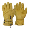 Goldtop England - Tan Quilted Cafe Racer Gloves