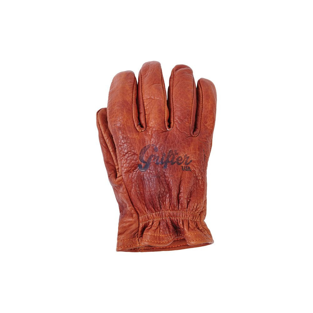 This short wrist American Bison glove is made in the USA. This glove also provides great tactility and dexterity. Each glove is hand antiqued and conditioned with an organic recipe.