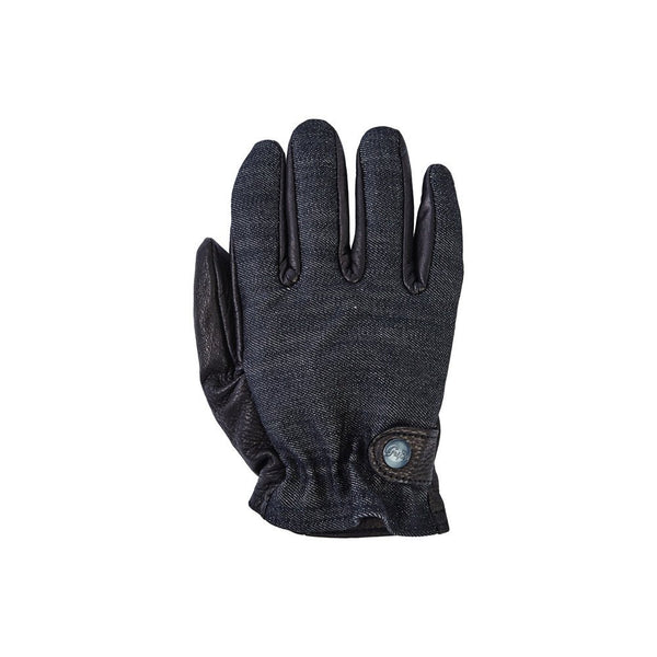 The Kuro Ranger is our Spring/Summer version of the Onyx Ranger. This glove is short wrist Italian Candiani Selvedge Black 13.5 oz Denim and Ultra Soft Deer Hide.