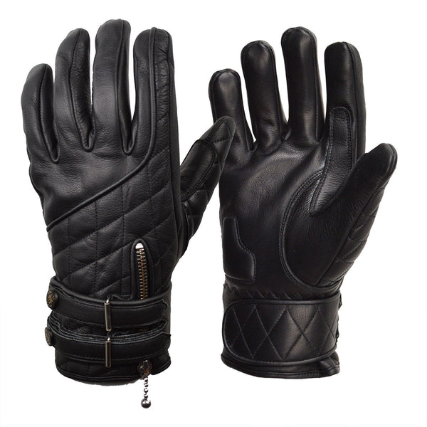Goldtop England - Quilted Cafe Racer Gloves