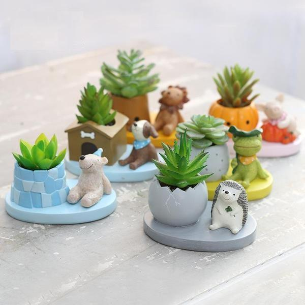 Cute Animal Bonsai & Succulent Planter