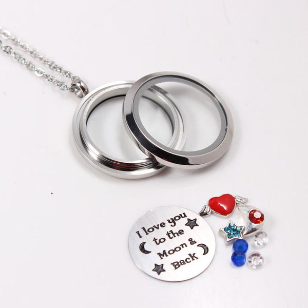 I Love You To The Moon & Back Statement Necklace