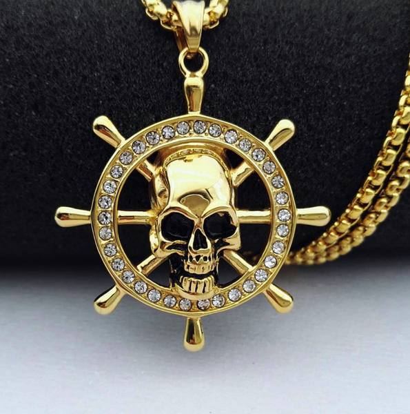 Nautical Skull Necklace