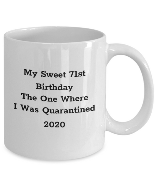 Sweet 71st Birthday Mug