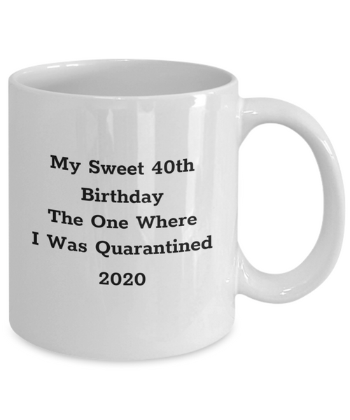 Sweet 40th Birthday Mug