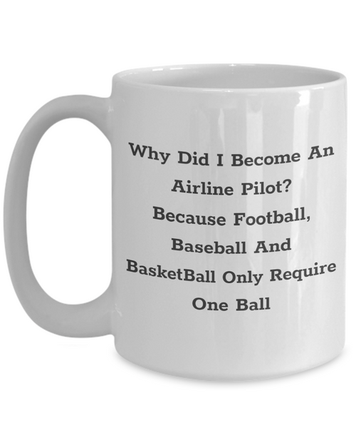 Why Did You Become An Airline Pilot? Mug