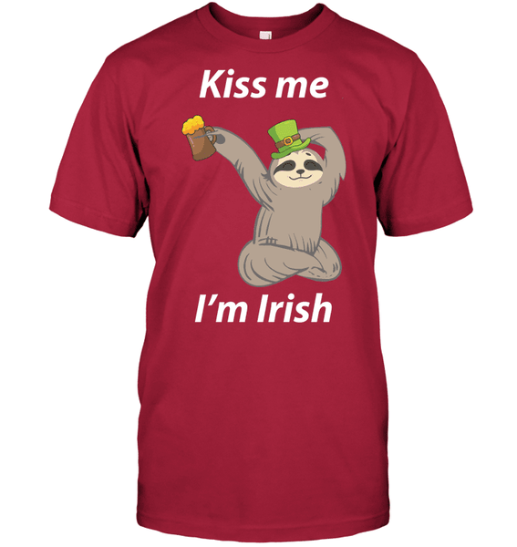 Sloth Kiss Me I'm Irish