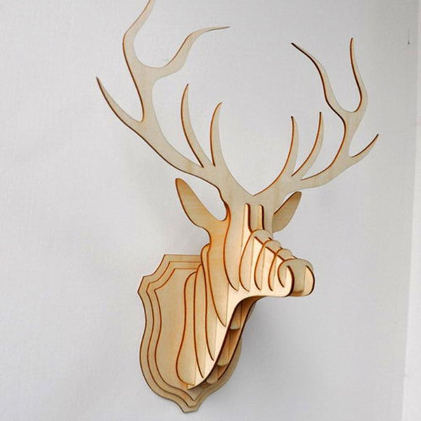 Craft Wooden Deer Head