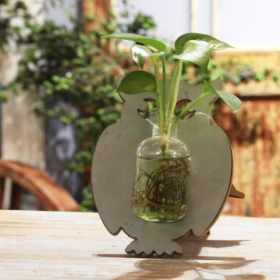 Pet Glass Tabletop Plant
