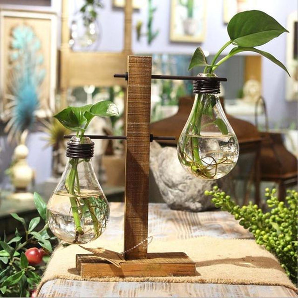 L/T Shape Glass Tabletop Plant