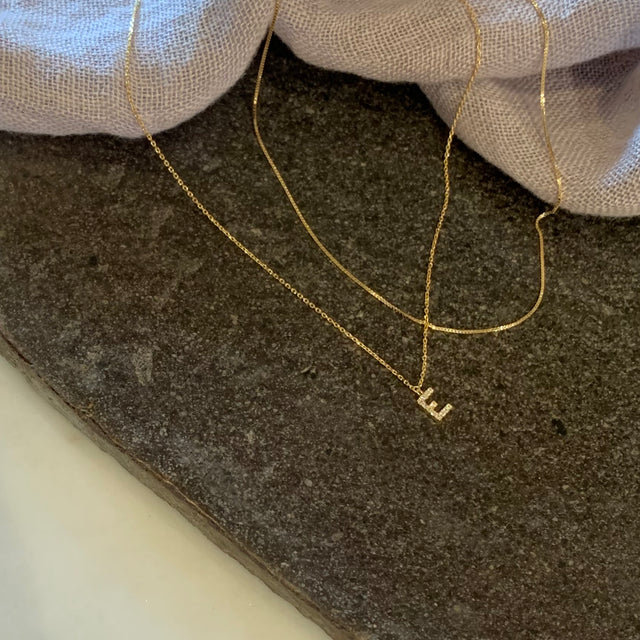 Thin Pressed Square Chain Necklace