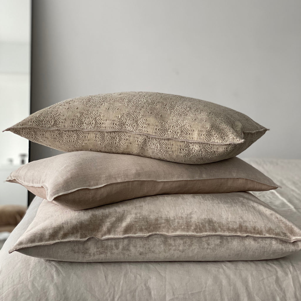 Crumpled Washed Linen Pillow