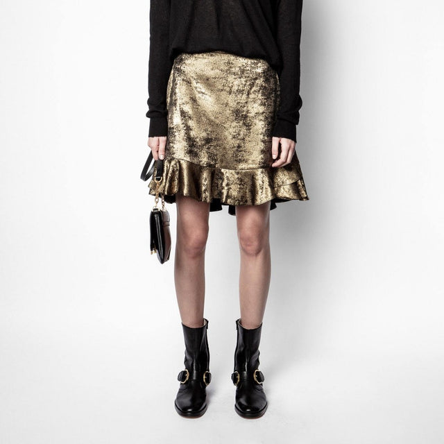 Jurins Gold Foil Skirt