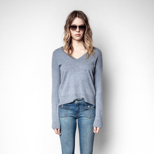 Vivi Cashmere Patch Knit