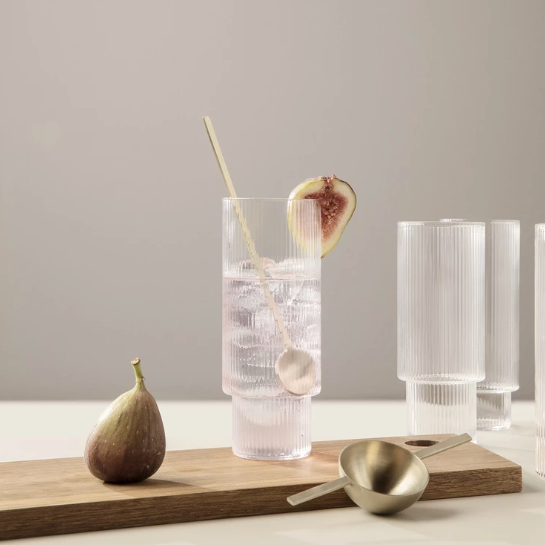 Ripple Long Drink Glass Set