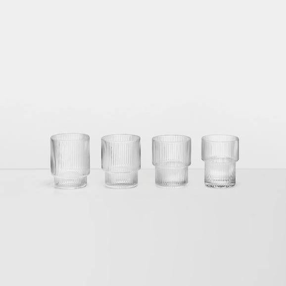 Ripple Short Drink Glasses Set