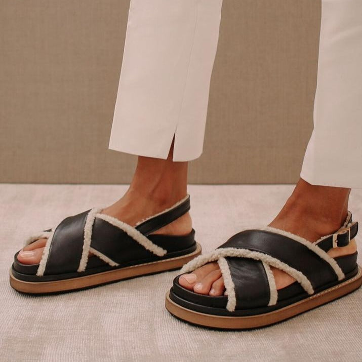 Marshmallow Leather Sandal