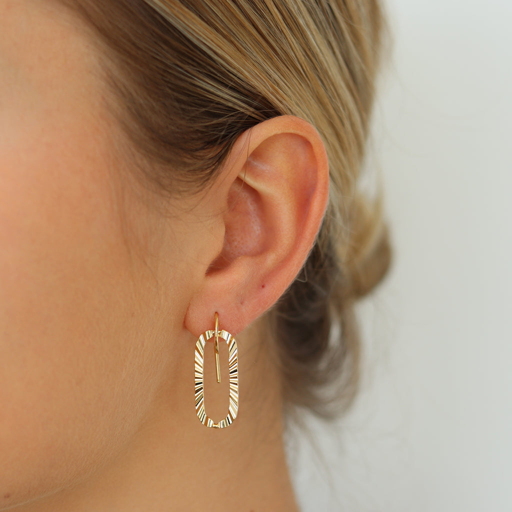 Signature Oval Hook Earring