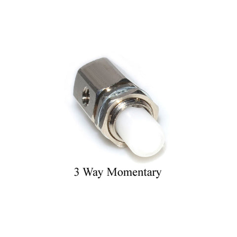 Momentary 3-Way Push Button Valve