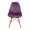 Purple Fur Vanty Chair/Armless Makeup Side Chair