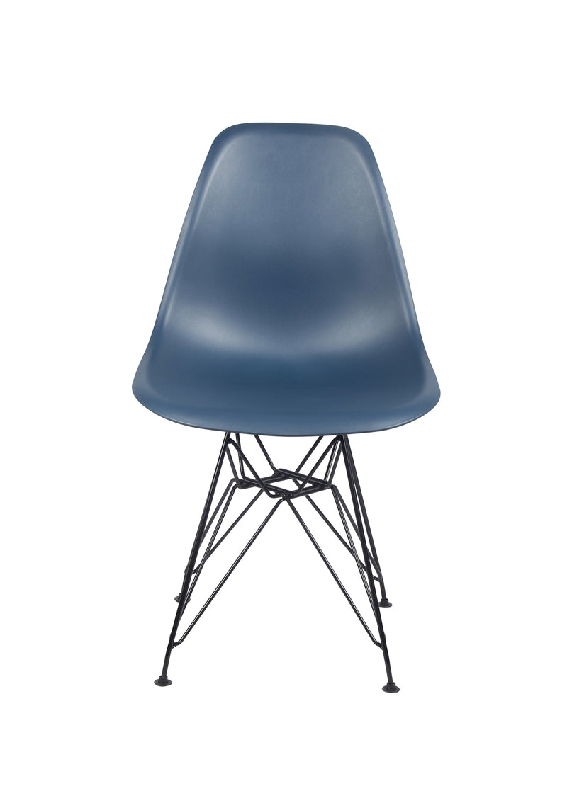 GIA Plastic  Armless Chair with Metal Legs