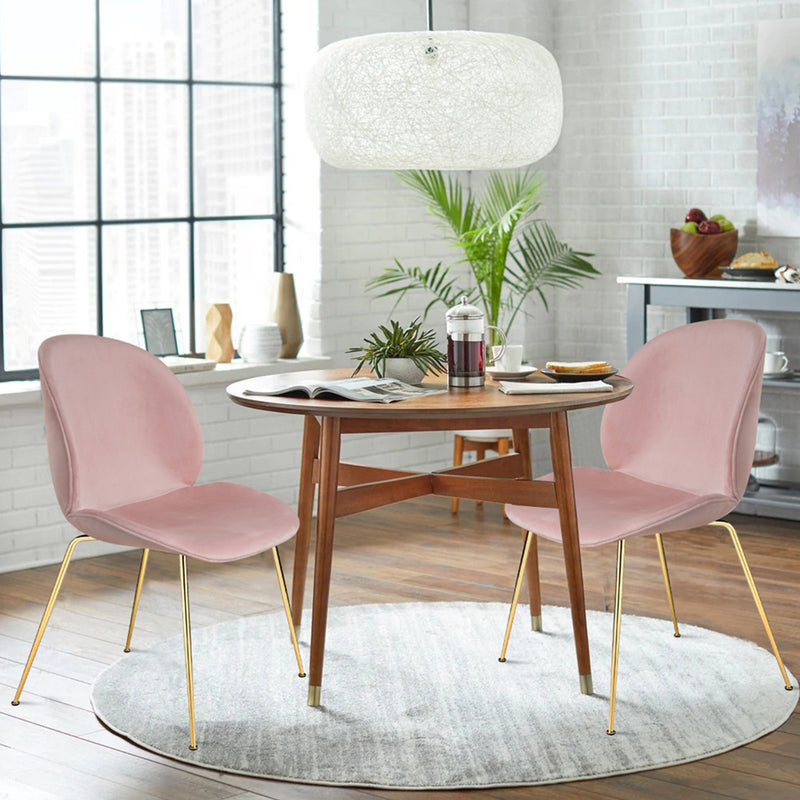 Groovy Velvet Armless Side Dining Chair (2 pack)