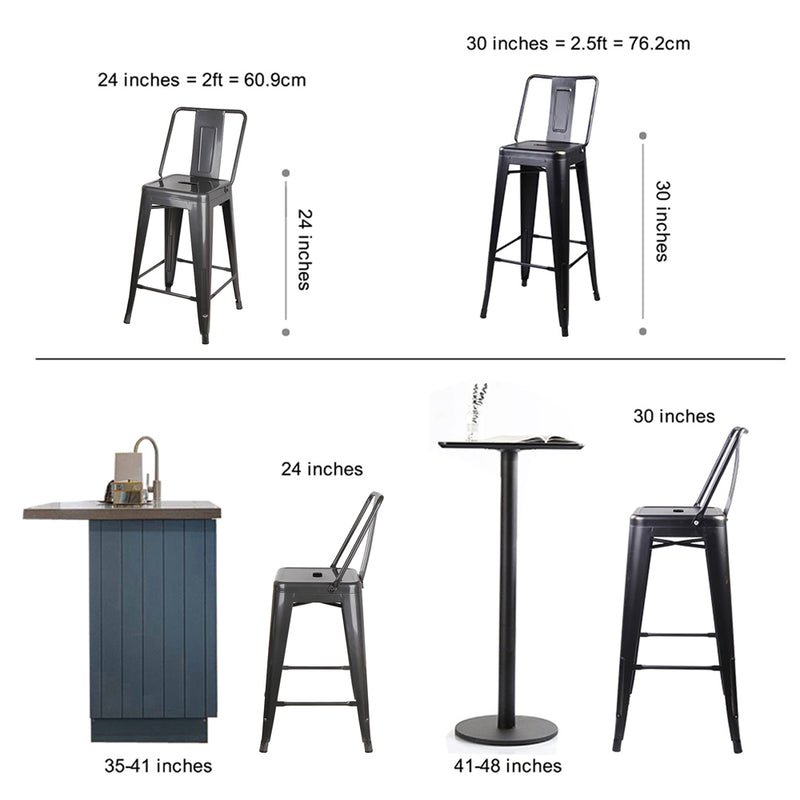 24 Inch Metal Stool-New Color