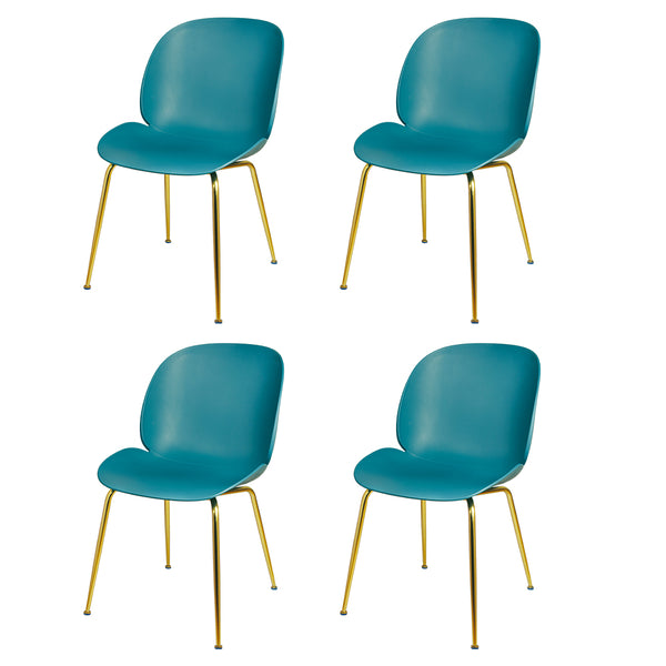 GIA Plastic Green Side Chair (4 Pack)