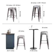 24 Inch Metal Stool