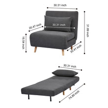 GIA Tri-Fold Convertible Sofa Bed with Removable Pillow