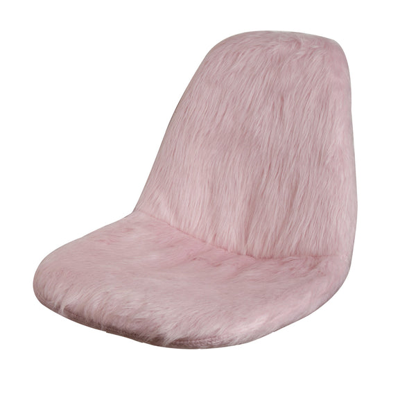 Fur Chair Cover, Armless Side Dining Chair Seat Cushion