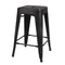 24 Inch Antique Metal Stool
