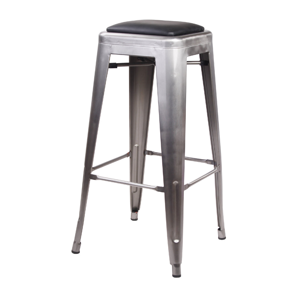 30 Inch Metal Stool with PU Seat