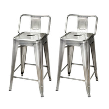 24 Inch Lowback Metal Stool