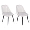 Groovy Armless Side Dining Chair (2 pack)