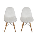 White Fur Vanty Chair/Armless Makeup Side Chair