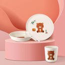 5pcs Bamboo Fiber Kids Dinnerware Set