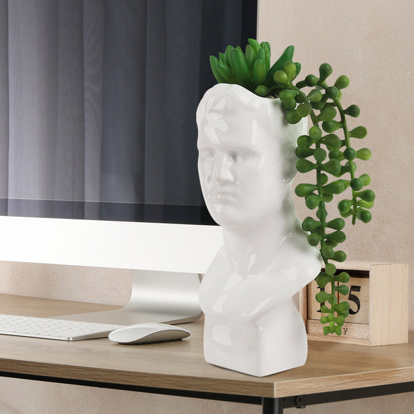 Fake Succulent with David Bust Sculpture