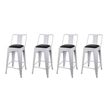 24 Inch Lowback Stool with PU Seat